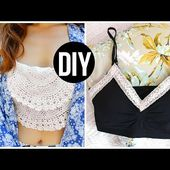 DIY Bralette Crop Tops | Easy DIY Tumblr Clothes