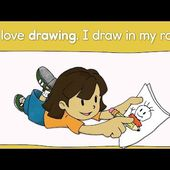 Hobbies Vocabulary and Pattern Practice for Kids (I like ~ / I love ~ ) by ELF Learning