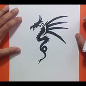 Como dibujar un dragon tribal paso a paso 6 | How to draw a tribal dragon 6