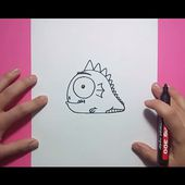 Como dibujar un monstruo paso a paso 15 | How to draw a monster 15