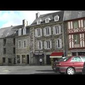 Driving Along Rue Saint-André & Place du Martray, Tréguier, Côtes d'Armor, Brittany, France