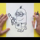 Como dibujar un minion paso a paso 5 - Minions | How to draw a minion 5 - Minions