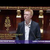 """CODE DU TRAVAIL : """"VOUS JOUEZ AUX APPRENTIS-SORCIERS"""" - Adrien Quatennens"""