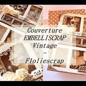 Couverture mini album vintage Floliescrap