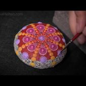 DIY How to paint a mandala Stone