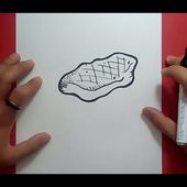 Como dibujar un filete paso a paso | How to draw a steak
