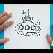 Como dibujar un submarino paso a paso 2 | How to draw a submarine 2