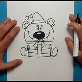 Como dibujar un oso de peluche paso a paso 20 | How to draw a teddy bear 20