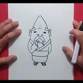 Como dibujar a Abuzampa paso a paso - Yo Kai Watch | How to draw Hungramps - Yo Kai Watch