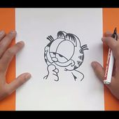 Como dibujar a Garfield paso a paso - El show de garfield | How to draw Garfield - The Garfield Show