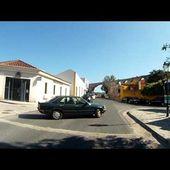 Goldwing Unsersbande montée vers la ville de Obidos