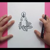 Como dibujar una vela paso a paso 5 | How to draw a candle 5