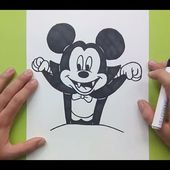 Como dibujar a Mickey Mouse paso a paso 3 - Disney | How to draw Mickey Mouse 3 - Disney