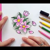 Como dibujar flores paso a paso 6 | How to draw flowers 6