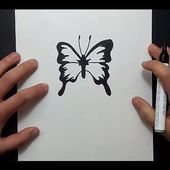 Como dibujar una mariposa paso a paso 11 | How to draw a butterfly 11