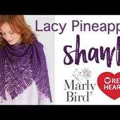 Crochet Lacy Pineapple Shawl Part 1 of 2
