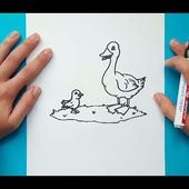 Como dibujar un pato paso a paso 9 | How to draw a duck 9