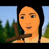 Saint Kateri Tekakwitha Catholic Cartoon