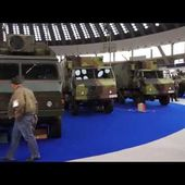 Partner 2015 indoor exhibition Yugoimport artillery systems MLRS rocket launcher weapons military eq