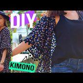DIY MODE┋MEILLEURE METHODE POUR FAIRE UN KIMONO A POMPONS / FRANGE , DIY Francais