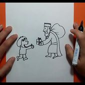 Como dibujar un rey mago paso a paso | How to draw a magician king
