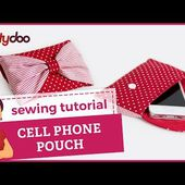 cell phone pouch sewing video tutorial by pattydoo