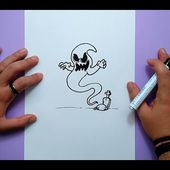 Como dibujar un fantasma paso a paso 15 | How to draw a ghost 15