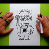 Como dibujar un minion paso a paso 3 - gru mi villano favorito | How to draw a minion 3