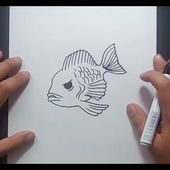 Como dibujar un pez paso a paso 20 | How to draw a fish 20