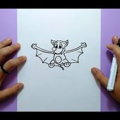 Como dibujar un murcielago paso a paso 8 | How to draw a bat 8