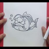 Como dibujar un pez paso a paso 17 | How to draw a fish 17