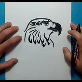 Como dibujar un aguila tribal paso a paso 2 | How to draw a tribal eagle 2