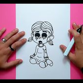 Como dibujar una niña terrorifica paso a paso | How to draw a terrific girl