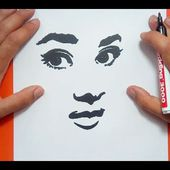 Como dibujar un rostro paso a paso | How to draw a face