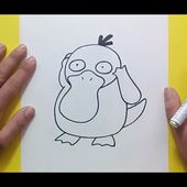 Como dibujar a Psyduck paso a paso - Pokemon | How to draw Psyduck - Pokemon