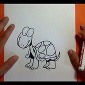 Como dibujar una tortuga paso a paso 4   How to draw a tortoise 4