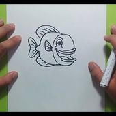 Como dibujar un pez paso a paso 16 | How to draw a fish 16