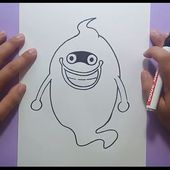 Como dibujar a Whisper paso a paso - Yo Kai Watch | How to draw Whisper - Yo Kai Watch
