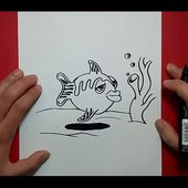 Como dibujar un pez paso a paso 12 | How to draw a fish 12