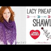 Crochet Lacy Pineapple Shawl Part 2 of 2