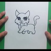 Como dibujar un gato paso a paso 24 | How to draw a cat 24