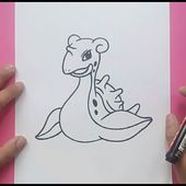Como dibujar a Lapras paso a paso - Pokemon | How to draw Lapras - Pokemon