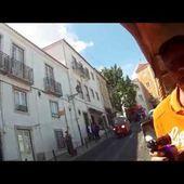 Goldwing Unsersbande Lisbonne en route avec tuk tuk vers le chateau