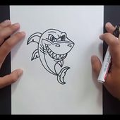 Como dibujar un tiburon paso a paso 9 | How to draw a shark 9