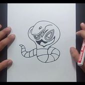 Como dibujar a Arbok paso a paso - Pokemon | How to draw Arbok - Pokemon