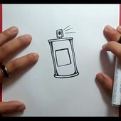 Como dibujar un spray paso a paso 2 | How to draw a spray 2