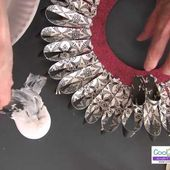 How to Make a Looped Scrapbook Paper Wreath (Long Version)