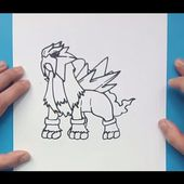 Como dibujar a Entei paso a paso - Pokemon | How to draw Entei - Pokemon