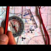 Comment utiliser une boussole et une carte pour aller d'un point A à un point B ?