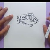 Como dibujar un pez paso a paso 18 | How to draw a fish 18